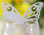 butterfly mark wine glass cards table name card wedding place laser cut