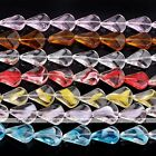"15*18mm Axe Crystal Glass Loose Beads Women Jewellery Findings Making DIY 12.5""L"
