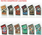 STEEL WINDPROOF CIGARETTE LIGHTERS