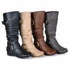 Journee Collection Womens Regular Sized Slouch Buckle Knee-High Riding Boot