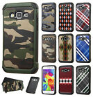 For Samsung Galaxy Prevail LTE Rubber IMPACT TRI HYBRID Case Skin Phone Cover