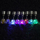 2Pcs Light Up LED Bling Earrings Ear Studs Dance Party Accessories Blinking Xmas