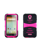 For Alcatel OneTouch Elevate HYBRID Hard Gel Rubber KICKSTAND Case +Screen Guard