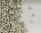 925 Sterling Silver 4mm Mirror Spacer Beads, Choice of Lot Size & Price