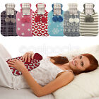 Hot Water Bottle Novelty Jacquard Knitted Cover Warm Plush 2L Litre Heat Pad New