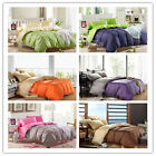 Single/Double/Queen/King Bed Linen New Cotton Quilt/Duvet Cover Set 6 Colors
