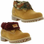 New Timberland 6835A Roll Top Mens Wheat Nubuck Leather Boots Size UK 10