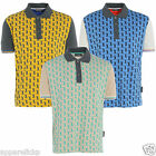 Golf Junkie Men's Polo Casual Short Sleeve Blue Beige Yellow Cotton Tops