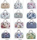 Lady Owl Floral Weekender Gym Swimming Oilcloth Holiday Tote Bag Florence Happy