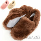 Ladies / Womens Genuine Fluffy Slip On Sheepskin Slippers