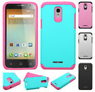 For Alcatel OneTouch Elevate HARD Astronoot Hybrid Silicone Case + Screen Guard