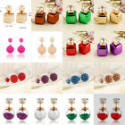Hot Fashion 1 Pair Candy Colors Lady Cubic Pearl Stud Earrings Jewelry Eardrop