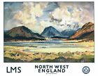Vintage LMS North West England Lake District Railway Poster A3/A2/A1 Print