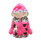 NEW Girls Baby Toddler Winter Warm Minnie Hooded Cartoon Coat Jacket Clothes