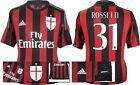 *15 / 16 - ADIDAS ; AC MILAN HOME SHIRT SS / ROSSETTI 31 = SIZE*