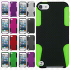 iPod Touch 6 6th Gen MESH Hybrid Silicone Rubber Skin Case Phone Protector Cover
