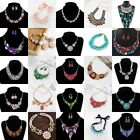 Fashion Charm Crystal Jewelry Chunky Statement Bib Pendant Chain Choker Necklace