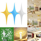 68 X Stars Sky Mirror Sticker Wall Ceiling Room Decal Decor DIY Decals Removable