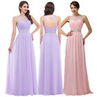 Evening Bridesmaid Party Wedding Ball Gown Long Prom Maxi Dress STOCK SIZE 6-18+
