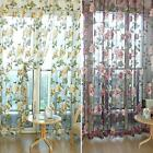 Chic Style Room Floral Tulle Voile Window Curtain Yellow 100*200CM/100*250CM