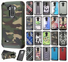 For LG G Stylo Rubber IMPACT TRI HYBRID Hard Case Skin Phone Cover +Screen Guard