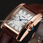 Skmei Women Ladies Rose Golden Case Oblong 3 Colours Leather Wrist Watch Gift
