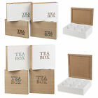 6 Or 9 Section Compartments Natural Wooden Chic Tea Bag Box Chest Storage Chest