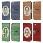 HEAD CASE DESIGNS CHRISTMAS ANGELS LEATHER BOOK CASE FOR APPLE iPHONE PHONES