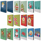 HEAD CASE DESIGNS JOLLY CHRISTMAS TOONS LEATHER BOOK WALLET CASE FOR APPLE iPAD