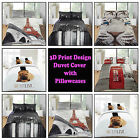 3D Panel Print Duvet Cover Bedding Set Linen with Pillowcases Double king Animal