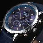 North Mens 3 Colours Luxury Date Display Leather Wrist Quartz Watch Gift