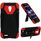 For ZTE Obsidian Z820 Turbo Layer HYBRID KICKSTAND Rubber Case Cover Accessory