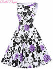 FLORAL Retro 50s NEW 1 Vintage Style Swing Evening Pin Up Prom Dress