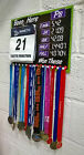 Runners Medal hanger with Changeable pbs