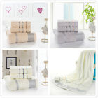 3Ps New Cotton Towel Set Fast Drying Travel Camping Sport Bath/Hand Towel Stripe