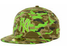 New York Yankees MLB New Era In Living Camo Green Flat Bill Brim Hat Cap Lid NY