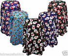 NEW LADIES WOMENS CHRISTMAS PRINT SANTA FRANKI SNOWMAN SWING FULL SLEEVE DRESS