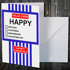 TESCO VALUE NOVELTY CARD CHRISTMAS BIRTHDAY ANNIVERSARY GREETINGS