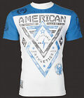 American Fighter AFFLICTION Mens T-Shirt ALASKA ARTISAN Biker WHITE Gym UFC $40