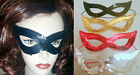 #01 EYE MASK Fancy Dress SEQUIN SEXY Cat woman Red Black Gold Silver New