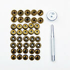 New Leather craft 10 set 15mm Rapid Rivet Button METAL Snaps Fasteners Tool