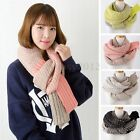 Women Men Wool Winter Warmer Knitted Neck Long Soft Scarf Wrap Shawl Stoles Hot