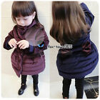 2017 Winter Warm Child Kids Baby Girls Back Bow Knot High Neck Coat Jackets 2-8Y
