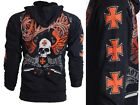 ARCHAIC by AFFLICTION Men Hoodie Sweat Shirt Jacket REBEL KILLER Biker UFC $78