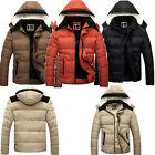 MENS Casual Jacket Coat THICKEN Hooded Puffer Puffa Hoodie Padded Outerwear TOPS