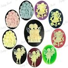 3pcs Hot Vintage DIY Resin Character Oval Cabochons Lucite Flatbacks 38x28x10mm