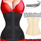 US New Spiral Steel Boned Waist Trainer Corset Cincher Body Shaper Slimming RH4