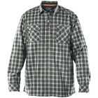 5.11 Tactical Classic Mens Flannel Covert Shirt Fishing Cotton Long Sleeve Storm