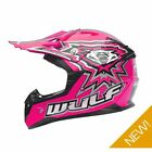 Wulfsport Kids Childrens Childs Flite Xtra Motocross Motor Bike Quad Helmet Pink