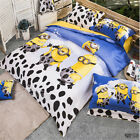 Milk Minions Duvet/Quilt/Doona Cover Set Double/Queen/King Size Bed 100%Cotton